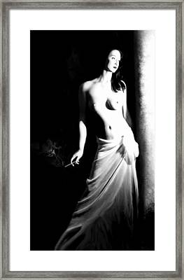 Cigarette Break - Self Portrait Framed Print by Jaeda DeWalt