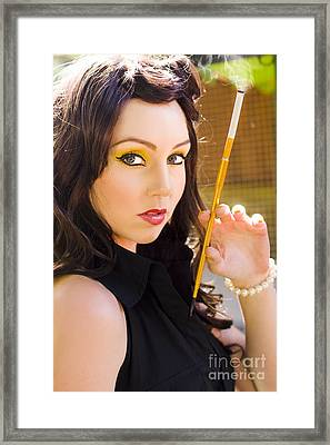 Cigarette Framed Print by Jorgo Photography - Wall Art Gallery