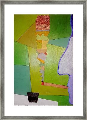 Cigarette Smoking Man  Oil On Canvas  24x36 Framed Print