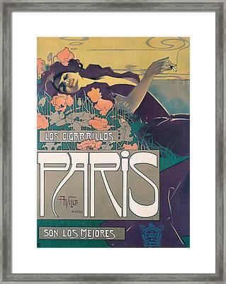 Cigarrillos Paris   Vintage Poster Framed Print