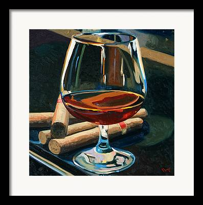 Red Wine Bottle Framed Prints