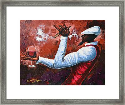 Cigars And Brandy Framed Print by The Art of DionJa'Y