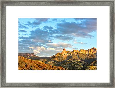 Cimarron Sunset In Autumn Framed Print