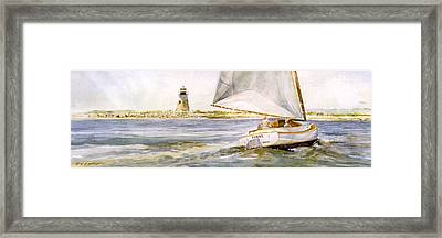 Cimba At Bird Island Light Framed Print