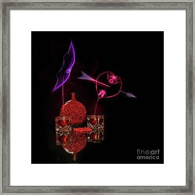 Cinnamon Hearts Framed Print