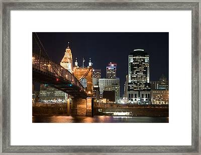 Cincinnati At Dusk Framed Print