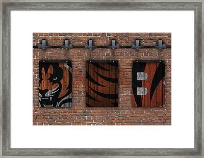Cincinnati Bengals Brick Wall Framed Print