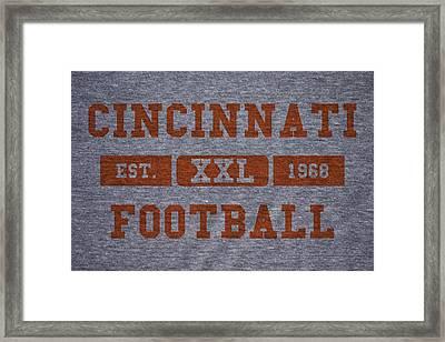 Cincinnati Bengals Retro Shirt Framed Print by Joe Hamilton