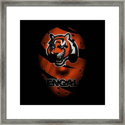 Cincinnati Bengals War Mask Framed Print by Joe Hamilton