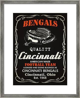 Cincinnati Bengals Whiskey Framed Print by Joe Hamilton