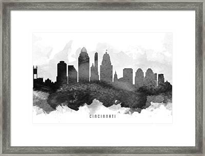 Cincinnati Cityscape 11 Framed Print by Aged Pixel