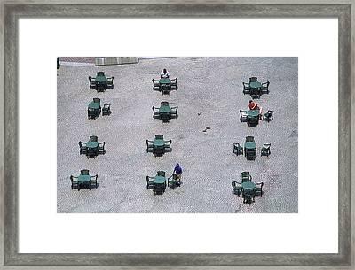 Cincinnati - Fountain Square Framed Print by Frank Romeo