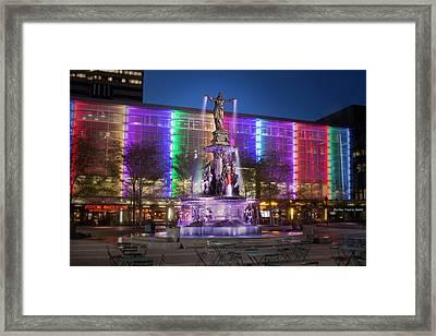 Cincinnati Fountain Square Framed Print by Scott Meyer