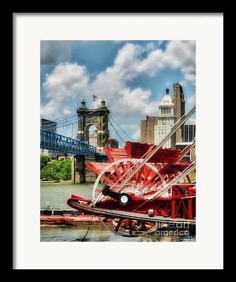 Riverboats Framed Prints
