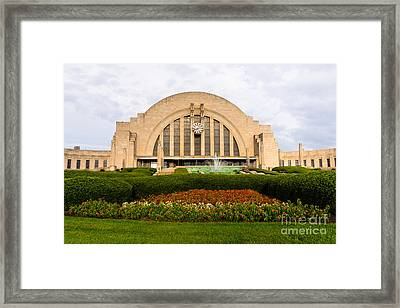 Cincinnati Museum Center At Union Terminal Framed Print by Paul Velgos