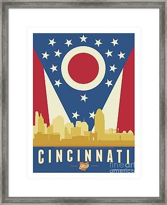 Cincinnati - Ohio Burgee Framed Print