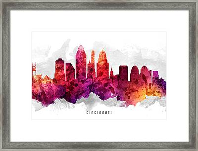 Cincinnati Ohio Cityscape 14 Framed Print by Aged Pixel