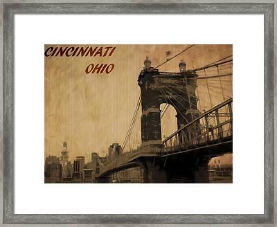 Cincinnati Ohio Framed Print
