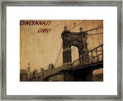 Cincinnati Ohio Framed Print by Dan Sproul