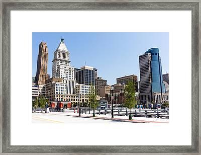 Cincinnati Ohio Downtown City Buildings Framed Print by Paul Velgos