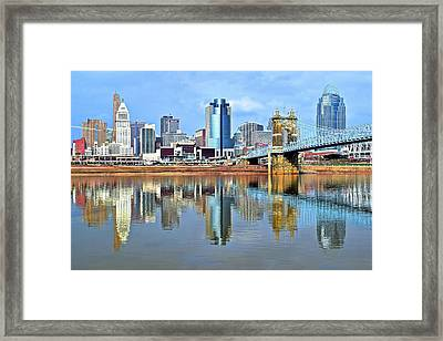 Cincinnati Ohio Times Two Framed Print