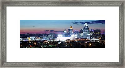 Cincinnati Panorama 3x1 Framed Print