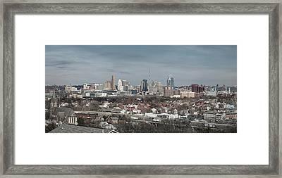 Cincinnati Panorama  Framed Print by Scott Meyer