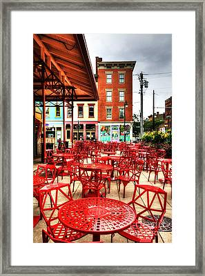Cincinnati Red At Findlay Market Framed Print
