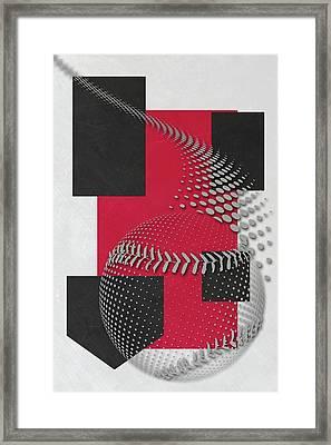 Cincinnati Reds Art Framed Print by Joe Hamilton