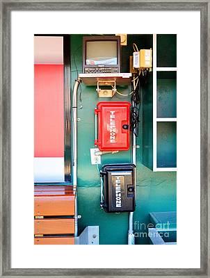 Cincinnati Reds Dugout Hotline Framed Print by Mel Steinhauer