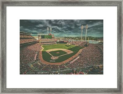 Cincinnati Reds Great American Ballpark Creative 5 Framed Print by David Haskett