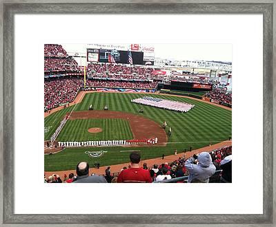 Cincinnati Reds Opening Day Framed Print