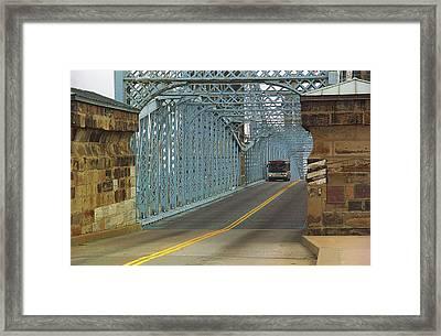 Cincinnati - Roebling Bridge 1 Framed Print by Frank Romeo