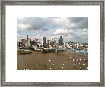 Cincinnati Skyline Color Framed Print