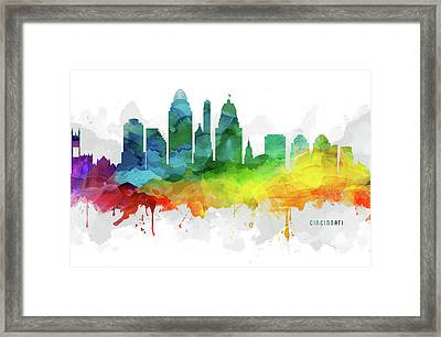 Cincinnati Skyline Mmr-usohci05 Framed Print
