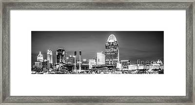 Cincinnati Skyline Panorama Picture Framed Print by Paul Velgos