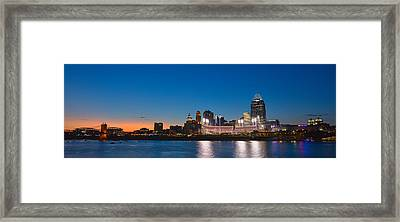 Cincinnati Skyline Sunset Framed Print