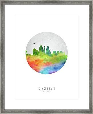 Cincinnati Skyline Usohci20 Framed Print