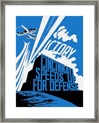 Cincinnati Speeds Up For Defense - Ww2 Framed Print by War Is Hell Store