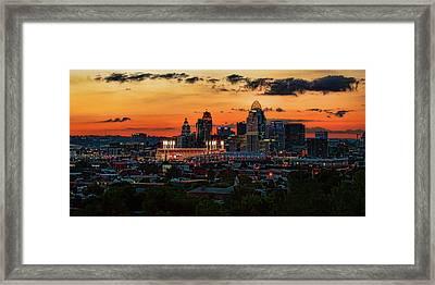 Cincinnati Sunset Framed Print