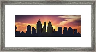 Cincinnati Sunset Usohci-pa01 Framed Print