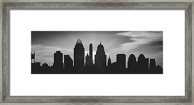 Cincinnati Sunset Usohci-pa02 Framed Print