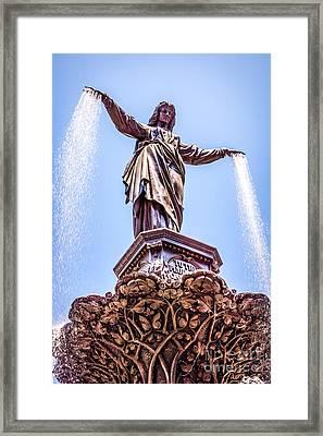 Cincinnati Tyler Davidson Fountain Genius Of Water  Framed Print by Paul Velgos