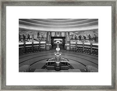 Cincinnati Union Terminal, Concourse Framed Print by Everett