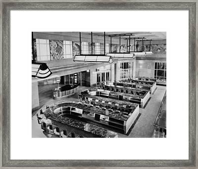 Cincinnati Union Terminal, Lunchroom Framed Print by Everett