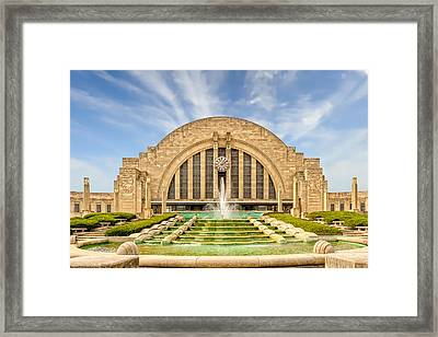 Cincinnati Union Terminal Train Station And Museum  -  Cintrst200 Framed Print