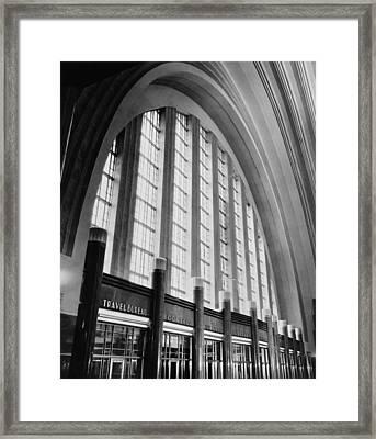 Cincinnati Union Terminal, West Wall Framed Print by Everett