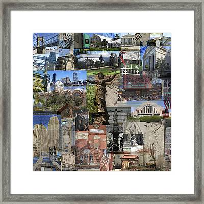 Framed Print featuring the photograph Cincinnati's Favorite Landmarks by Robert Glover