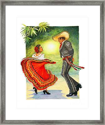 Cinco De Mayo Dancers Framed Print by Marilyn Smith