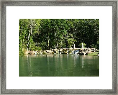 Cinco Ranch Lake Framed Print by Dennis Stein